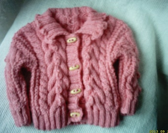 baby girl sweater, irish girl hat,Irish baby sweater,baby girl sweater,girl sweater, Irish sweater, baby sweater 6-12 month's, ready to ship
