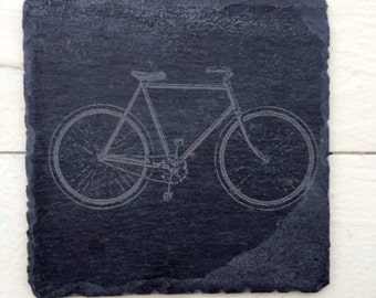 Bicycle Coasters, Reclaimed Roof Slate