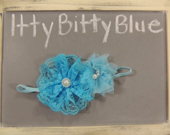 Itty Bitty Blue Girls Headband
