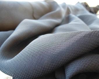 Sheer Black Rayon Fabric by the Yard, Rayon Yardage, Fabric by the Yard, Black Georgette, Yardage