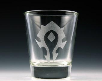 World of Warcraft Horde Symbol Shot Glass
