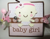 Baby Girl Pop-out Scrapbook Album