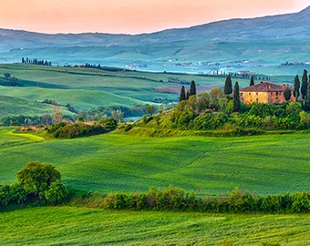 Italy - Tuscany landscape at early morning - SKU 0112