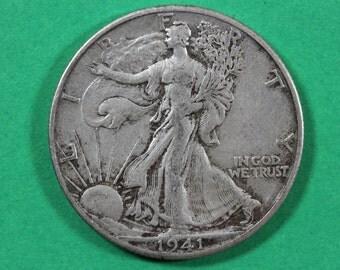 2 Silver Walking Liberty Half Dollars Junk Silver Coins