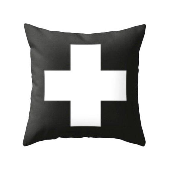 schweizer kreuz kissenbezug schwarz wei schweizer kreuz. Black Bedroom Furniture Sets. Home Design Ideas