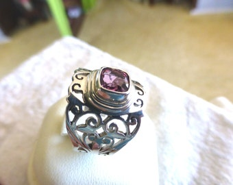 PINK SPINEL RING completely Handmde