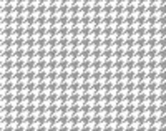 Grey Houndstooth fabric by Riley Blake, fat quarter, online quilting fabric Australia