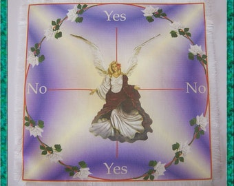 Angel Scrying Mat, Dowsing wiccan Magic Divination, fairy gift