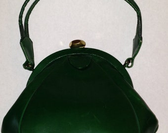 1940 Green Leather purse