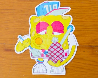 Spongebob Dabpants - Dab Sticker - Dab Slap
