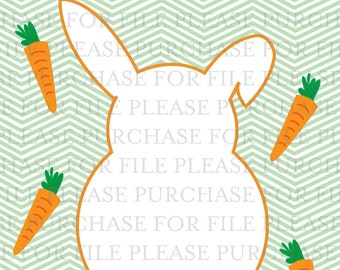 BUNNY BIRTHDAY PARTY pin the tail on the bunny poster