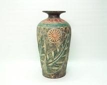 Unique Stoneware Vase Related Items Etsy