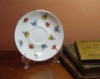 Small Vintage Floral Plate