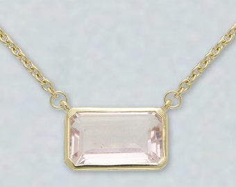 Crystal Aura Necklace-Pink