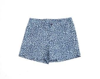 SALE 50% Off Womens Printed Shorts, Shorts, Denim Shorts, High Waist Shorts, Short Summer pants, Blue Shorts, Women Shorts