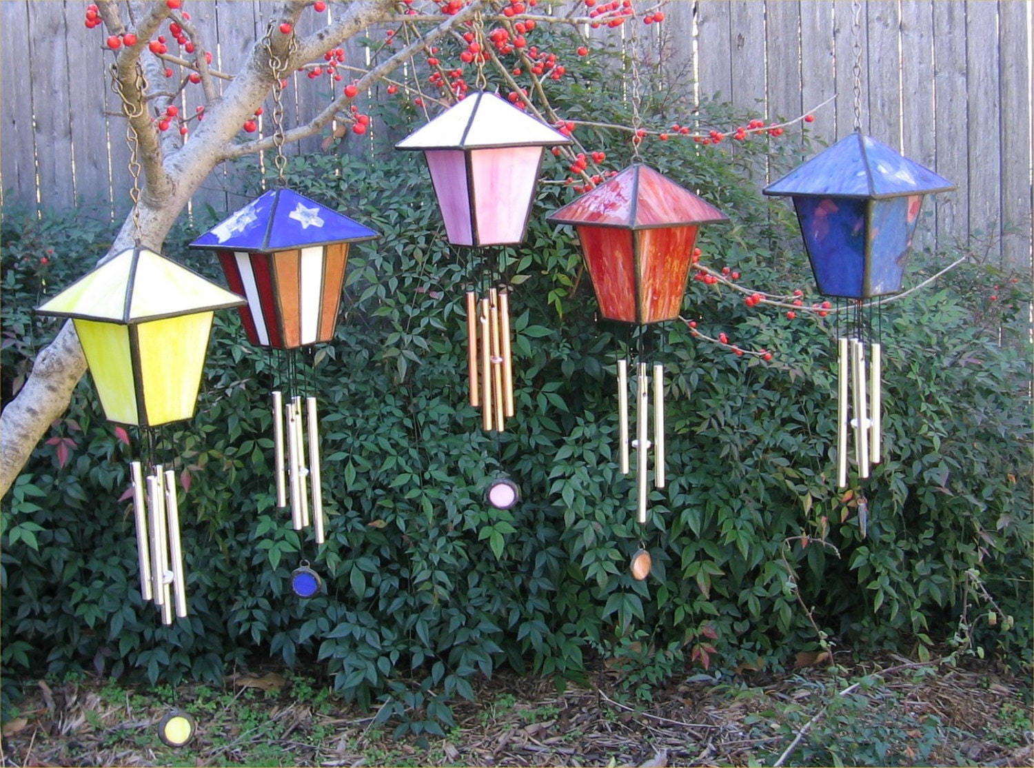 stained glass birdhouse wind chime pdf instructions and