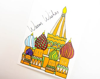 Handmade St. Basil's Cathedral Card