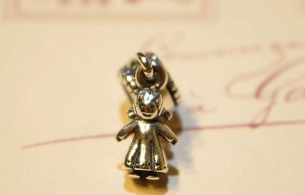 Pandora dangle charm, 925 silver, MY LITTLE GIRL