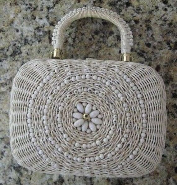 VTG Wicker Bag with Sophisticated Detail