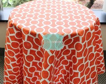 Tablecloth - Premier Prints - SYDNEY - Tangelo - Choose Your Size - Table Linen Wedding Home Decor Dining Kitchen
