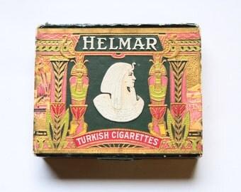 Vintage - Antique Helmar Turkish Cigarette Box