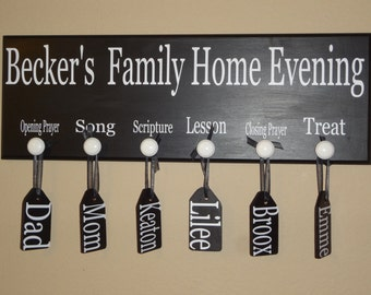 Personalized Family Home Evening Board
