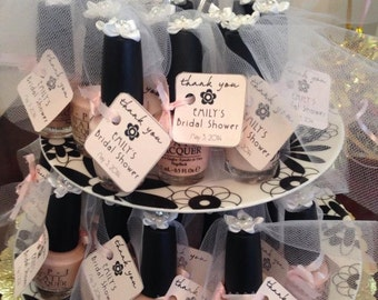 Bridal Shower Nail Polish Favor Tags