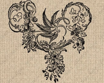 INSTANT DOWNLOAD Ornamental Images Ornamental Flourish Images Ornamental Graphics Ornamental Clipart Bird Digital Sheet Download 300dpi HQ