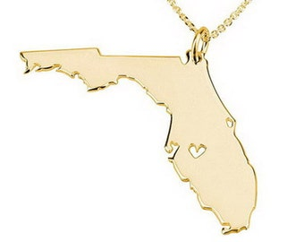 Florida cut out etsy for Jewelry engraving gainesville fl
