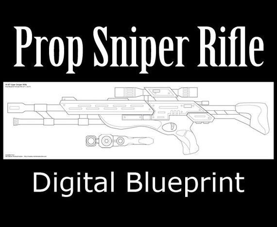 Prop sniper rifle digital blueprints malvernweather Gallery