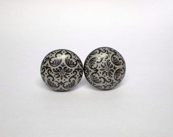 Ceramic Damask Knob Cabinet Pull Furniture Restoration Knob Drawer Pull
