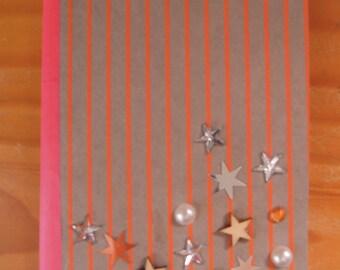 Orange and beige book star
