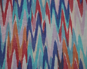 Baby Crib Sheet  or Toddler Bed Sheet  - Ikat Pattern in Bright Colors