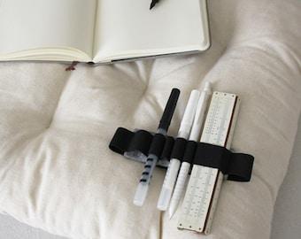 Moleskine Pen holder Journal band felt and elastic, for A4 agenda books diary, pencil case pen holder - Cahier Agenda, travel bag organizer