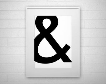 Typography Art Print - Ampersand - Poster - Printable - Wall Art