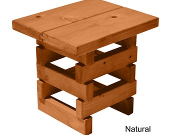 TROOPS BBQ Redwood Outdoor Mini-Bench, Natural Stain (8000147)