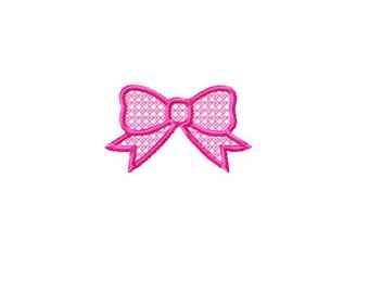Lacy Bow Embroidery Design - INSTANT DOWNLOAD