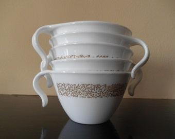 Set of 6 Vintage Pyrex Woodland Mugs!