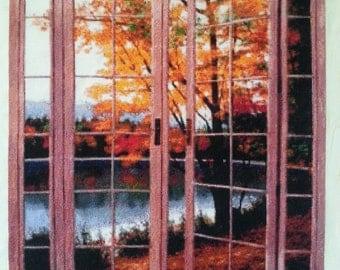 Autumn Threshold cross-stitch