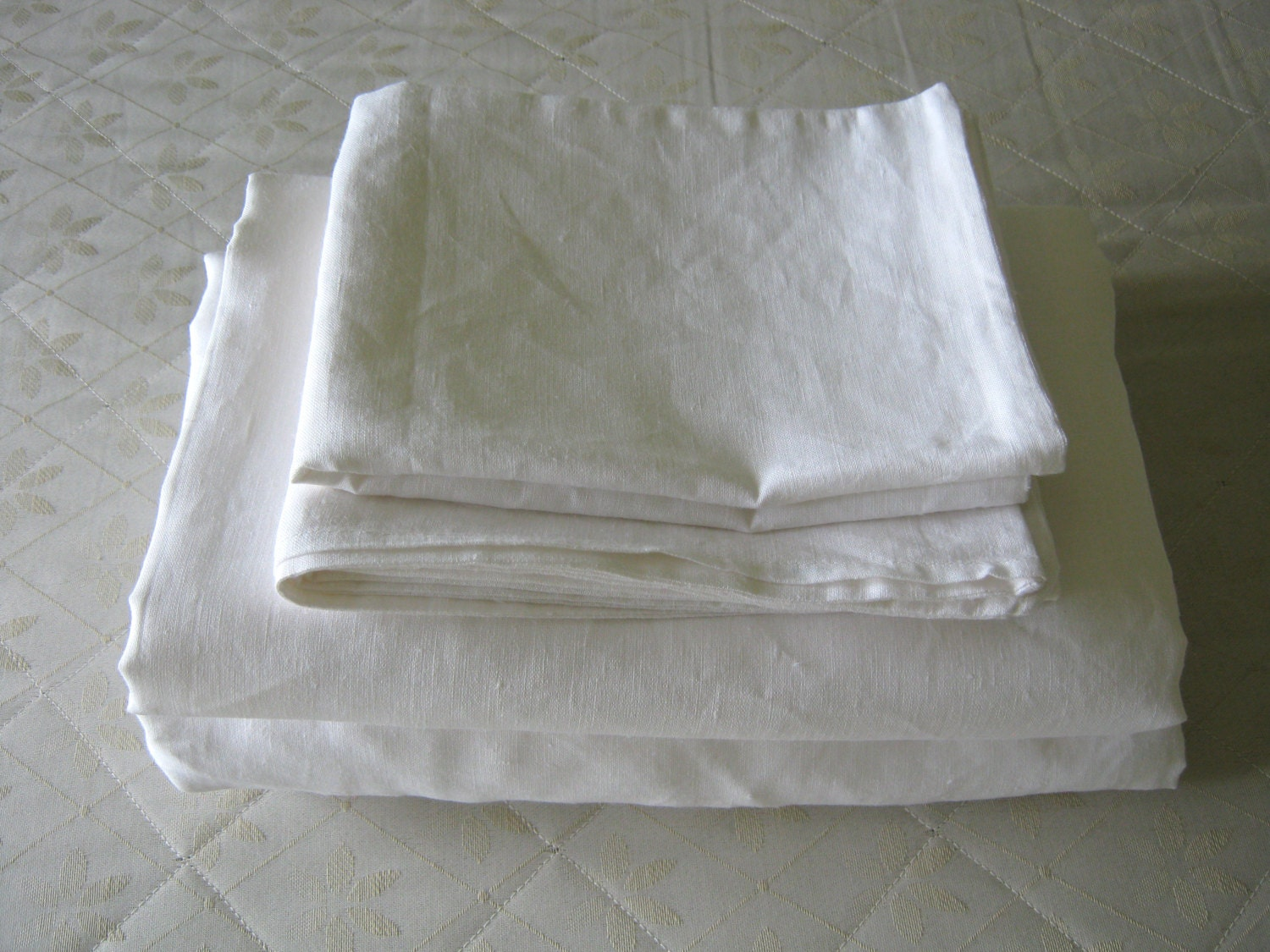 linen sheet set twin extra long xl white 100 pure by linencomfort. Black Bedroom Furniture Sets. Home Design Ideas