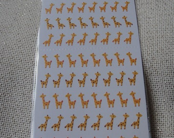 Cute Mini-girafe stickers /planner stickers/mini animal stickers/kawaii stickers