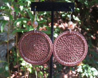 Chocolate Brown Crochet Earrings