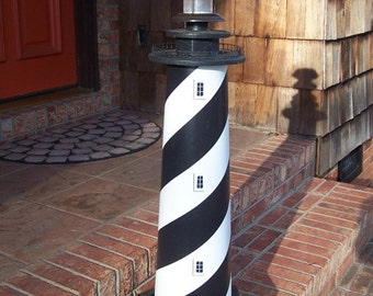 Cape Hatteras Lighthouse Solar Decorative Lawn and Garden Ornament– 3 foot