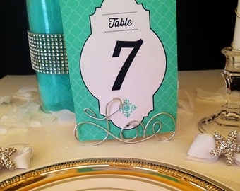 "10 ""Love"" Wire Table Number or Place Card Holders Perfect for Favors or Photo Frame or Holder Too!"