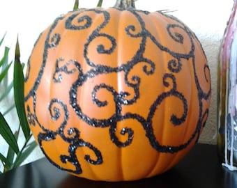 Glitter swirl pumpkin