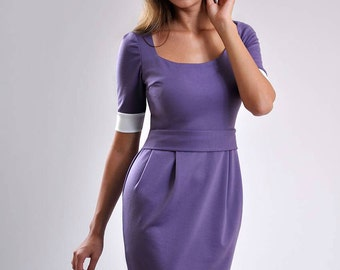 Mini Dress for Woman ,Simple Dress Jersey ,Dress Day Office Wear,Secretary Dress Tricot.