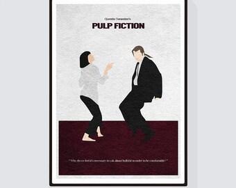Pulp Fiction Minimalist Alternative Movie Print & Poster