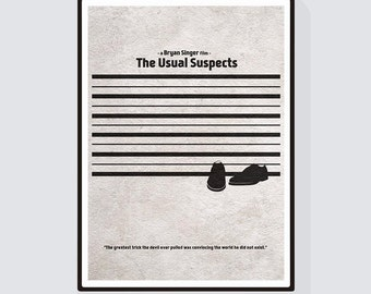 The Usual Suspects Minimalist Alternative Movie Print & Poster