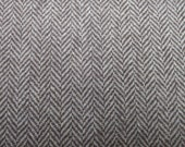 LAST PIECE - Earthly Brown and Cream Herringbone fabric 150 cm /63 inches wide  0.5 meter
