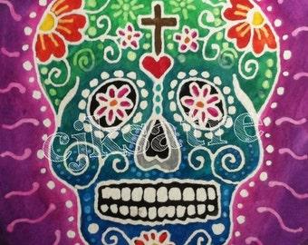 5 x 7 Watercolor Card/Print: Sugar Skull